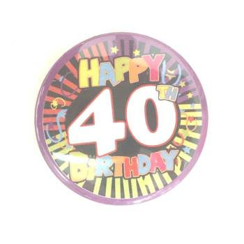 40th Birthday Badge-0