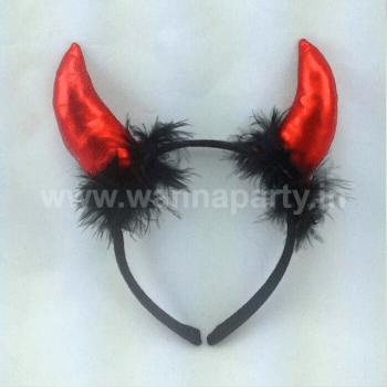 Devil Horn Headband Red-0