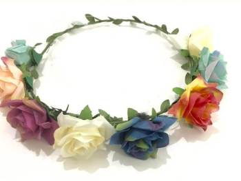 Multi Color Roses Tiara-0