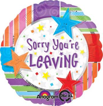 """Sorry You're Leaving Balloons 18"""" S40-0"""