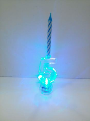 LED Numerical Candle 5-0