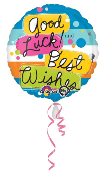 """Good Luck Best Wishes Balloons 18"""" S40-0"""