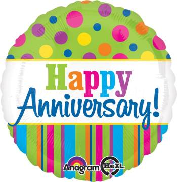 "Happy Anniversary Balloons 18"" S40-0"