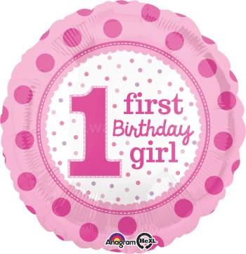"1st Birthday Girl 18"" S40-0"