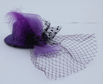 Purple Clip Top Net Headband-0
