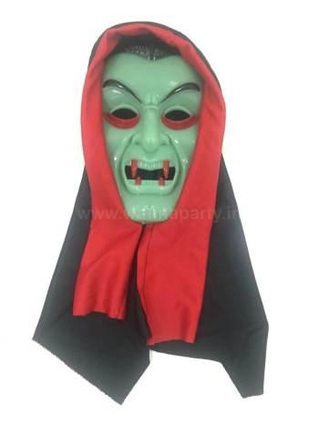 Glow in the Dark Blood Ghost Mask w/ Hood-0