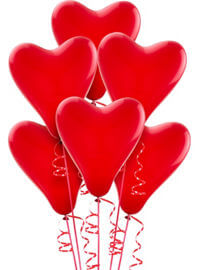 Red Heart Shaped Balloons - 25PC-0