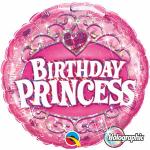 "Birthday Princes Tiara Foil Balloon 18""-0"