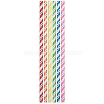 Assorted Colors Straws - 24PC-0