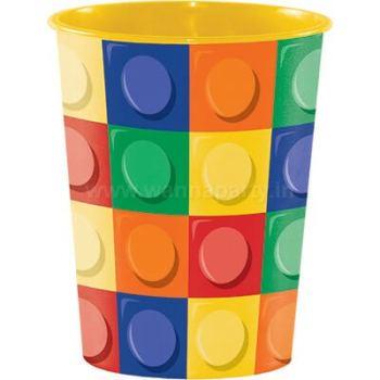 Lego Blocks Plastic Cups 16OZ-0