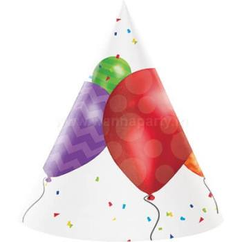 Balloon Blast Birthday Hat - 8PC-0