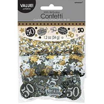50th Birthday Confetti 1.2Oz-0
