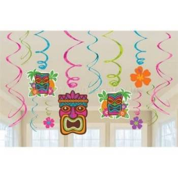 Tiki Value Pack Swirl Decoration - 12PC-0