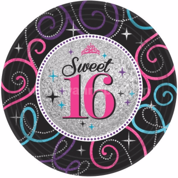 Sweet 16 Lunch Plates - 8PC-0