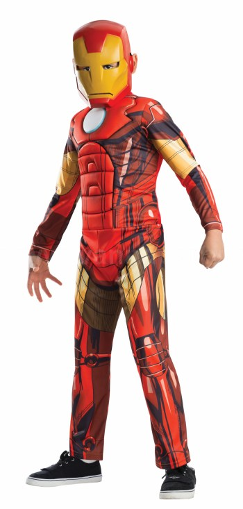 Deluxe Muscle Chest Kids Iron Man Costume-0