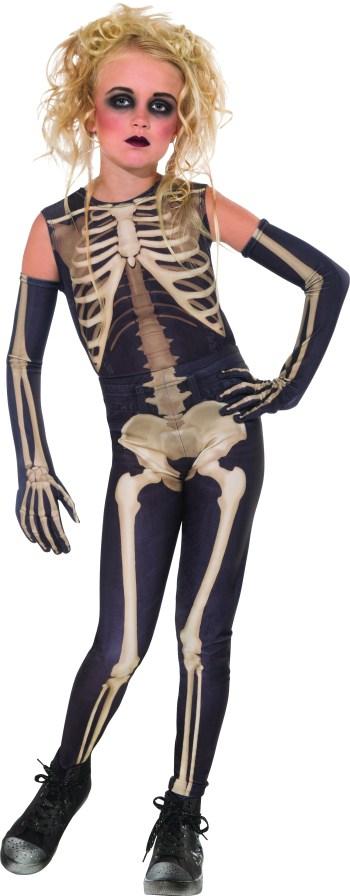 Skelee Girl Adult Costume-0