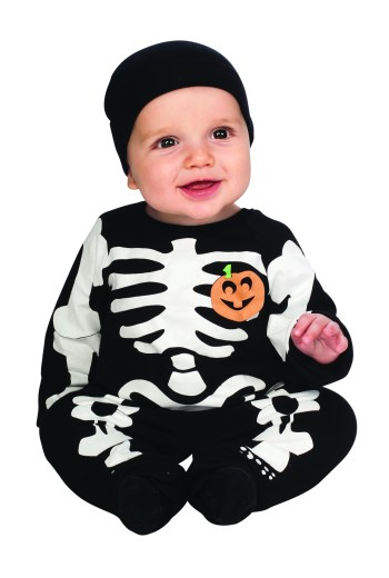 Skeleton Infant Costume-0