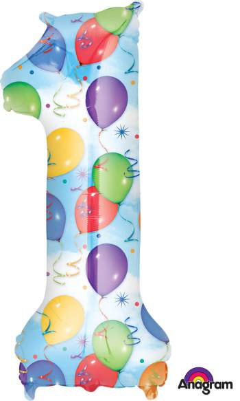 Large Shape Balloon & Streamers P50-0