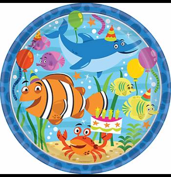 "Ocean Buddies Lunch Plates 9"" - 8PC-0"