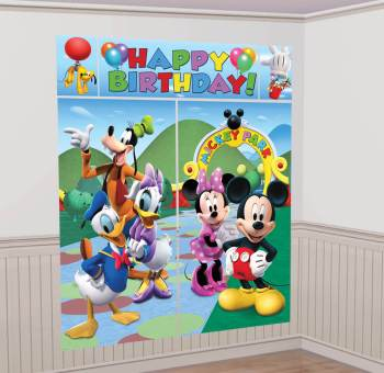 "Mickey Mouse Scene Setter 65"" x 59"" - 5PC-0"