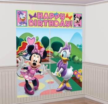 "Minnie Mouse Scene Setter 65"" x 59"" - 5PC-0"