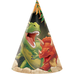 Dinosaur Blast Birthday Hats - 8PC-0