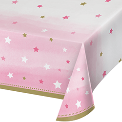 "Twinkle Twinkle Little Star Girl Tablecover - 54 x102""-0"