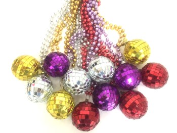 Disco Mirror Ball Beads Necklace - 1PC-0