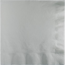 Shimmering Silver Lunch Napkins - 50PC-0
