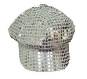 Girls Sequin Fedora Hat-0