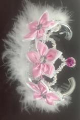 Floral Queen Tiara w/Pink Flowers-0