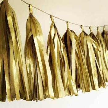 Golden Tassle Garland - 5PC-0