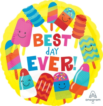 """Best Day Ever Pops Balloons 18"""" S40-0"""