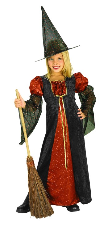 Girls Glitter Witch Costume-0