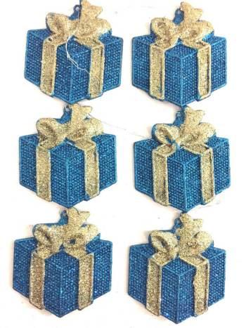 Gift Hangings Glitter - 6PC-0