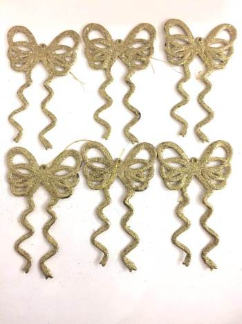 Bow Hangings Glitter - 6PC-0