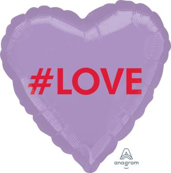 "#LOVE Heart Shape Balloon 18"" S40 - 1PC-0"