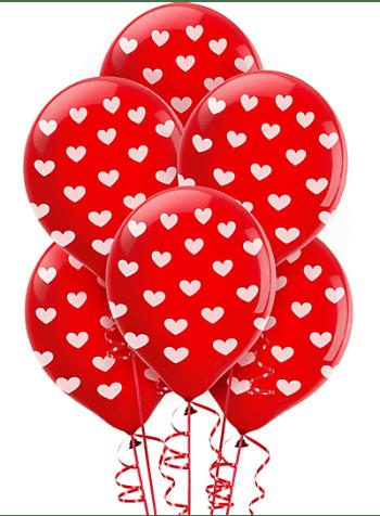 Polka Hearts Balloon - 10PC-0