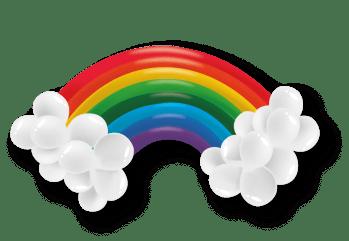 Rainbow Kit Balloons - 30 PC-0