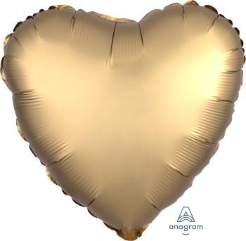 """Gold Heart Matte Balloon 18""""-0"""