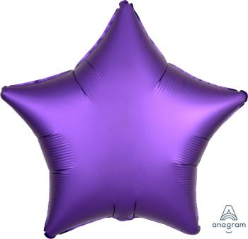"Star Shaped Matte Balloons Purple Color 18"" -0"