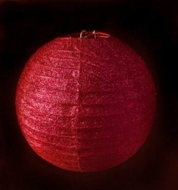 "12"" Glitter Red Lantern-1PC-0"