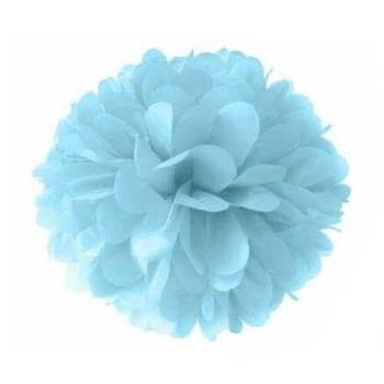 """Powder Blue Fluffy Decoration 12"""" - 1PC-0"""