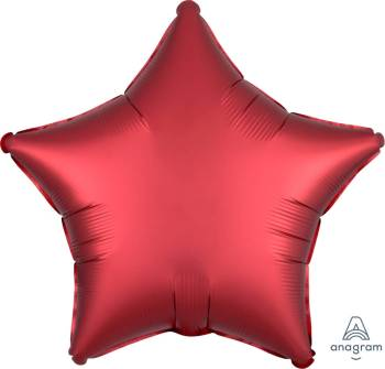 """19"""" Sangria Red Star Balloon S15-0"""