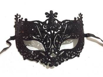 Glitter Fashion Eye Mask Black - 1PC-0