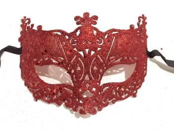 Glitter Fashion Eye Mask Red - 1PC-0