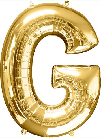 "40"" Alphabet G Balloon-0"
