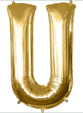"40"" Alphabet U Balloon-0"