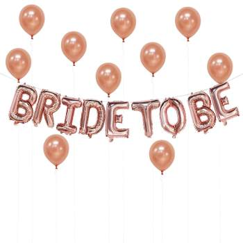 Bride To Be Rose Gold Banner Balloon-0