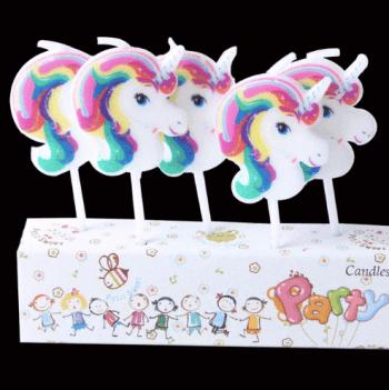 Unicorn Theme Candles - 5PC-0